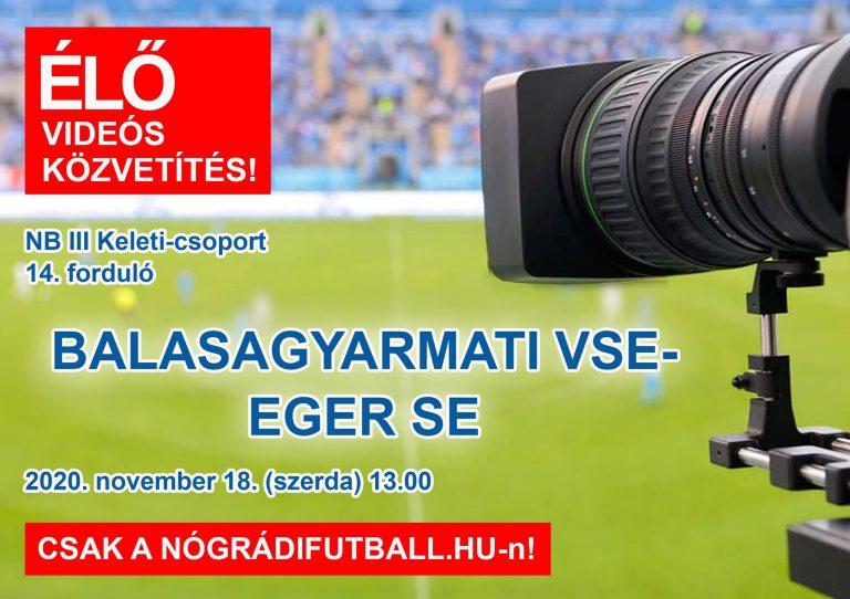 Élő videós közvetítés a BSE-Eger meccsről