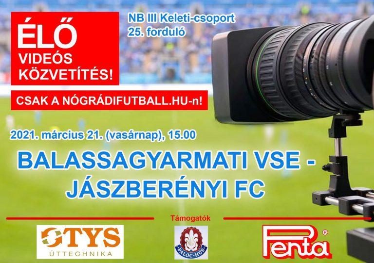 Élő videós közvetítés a BSE-Jászberény meccsről