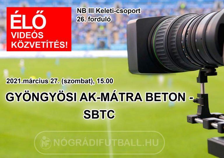 Élő videós közvetítés a Gyöngyös-SBTC bajnokiról