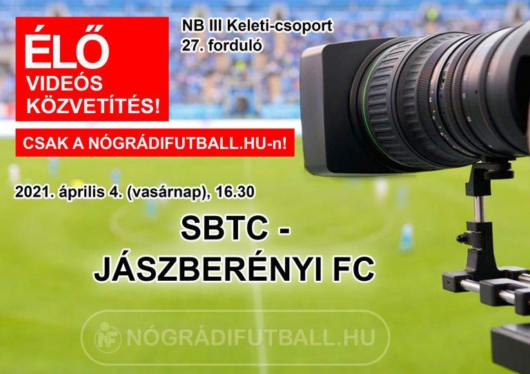 Élő videós közvetítés az SBTC-Jászberény mérkőzésről